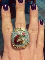Here is my daughter's championship ring from the Cavs!