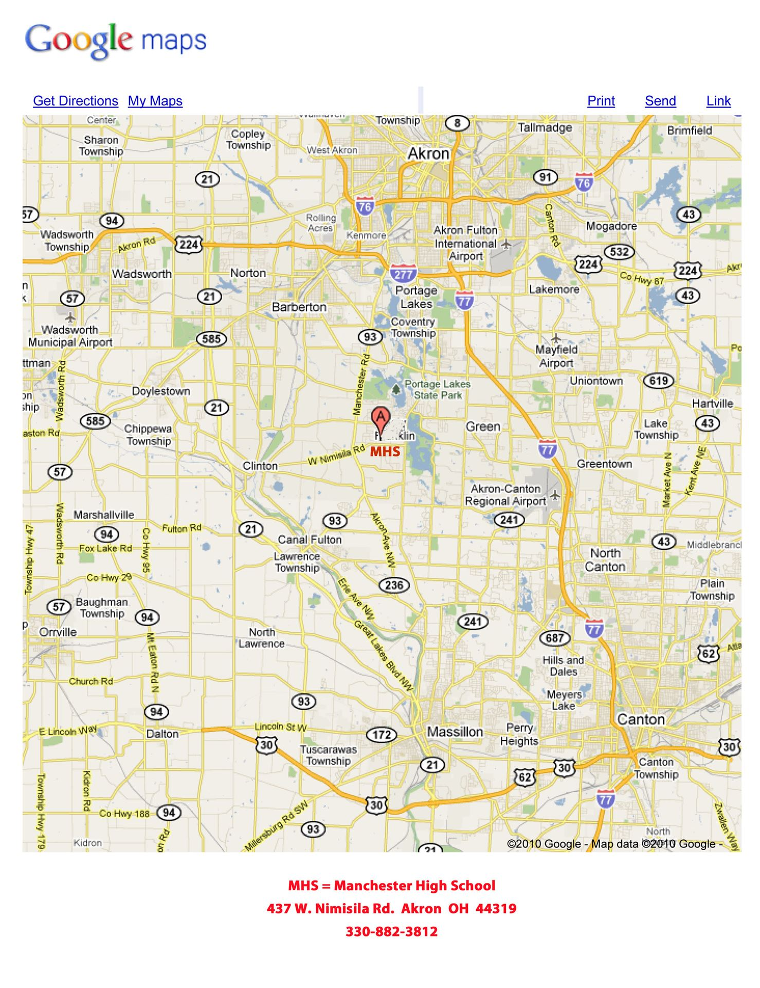 Manchester Ohio Map.Athletic Manchester Local School District